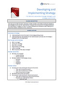 Developing and Implementing Strategy